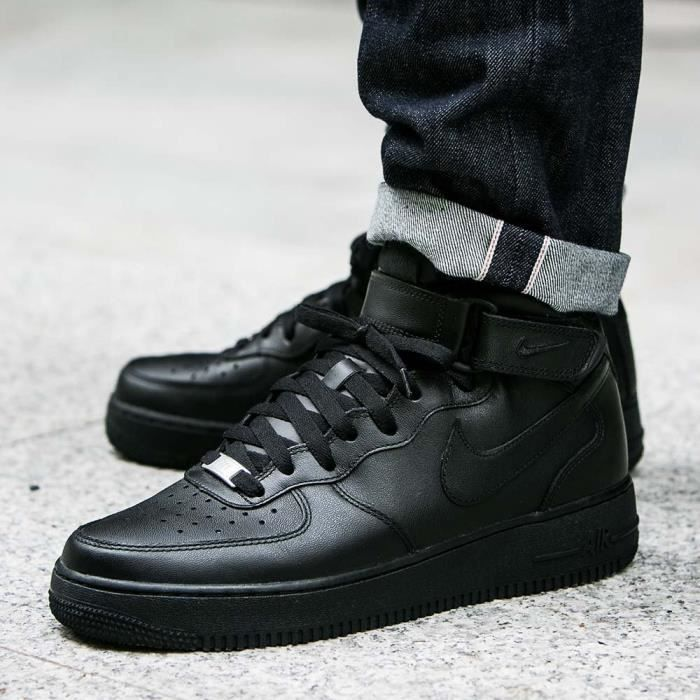 air force 1 noir mid